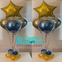 Balloon in a Balloon Centerpiece with star Balloon Delivery