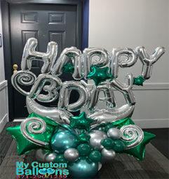 HB Gift Arrangement Green Balloon Delivery
