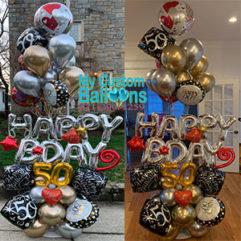 Milestone Birthday Love Balloon Arrangement Balloon Delivery