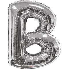 Silver 34 inch Letter B Balloon Delivery