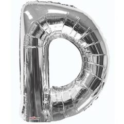 Silver 34 inch Letter D Balloon Delivery