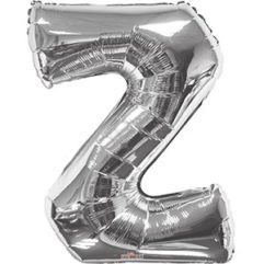 Silver 34 inch Letter Z Balloon Delivery