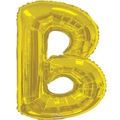 34in Gold Letter B Balloon Delivery