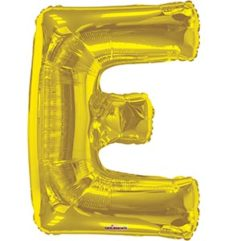 34in Gold Letter E Balloon Delivery