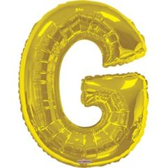 34in Gold Letter G Balloon Delivery