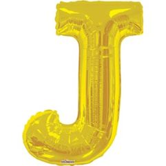 34in Gold Letter J Balloon Delivery
