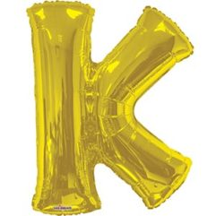 34in Gold Letter K Balloon Delivery