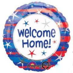 18in Welcome Home patriotic Balloon Delivery