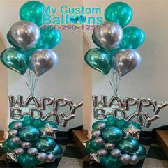 HB Arrangement Green Balloon Delivery
