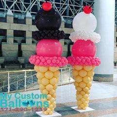 Ice Cream Cone Balloon Delivery