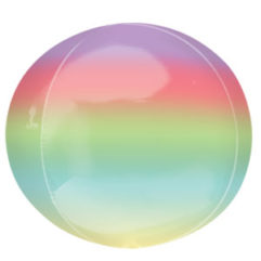 16 Rainbow Ombre Orb Balloon Delivery