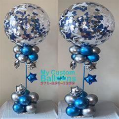 Confetti Bubble Star Centerpiece Balloon Delivery