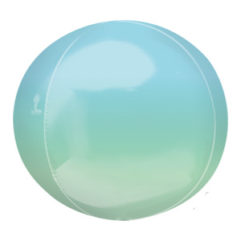 16in Blue Green Ombre Orb Balloon Delivery