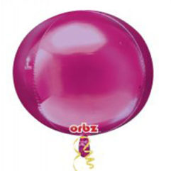 16in Hot Pink Orb Balloon Delivery