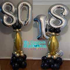 Tapper Balloon Pillar with 2 numbersBalloon DeliveryBalloon Delivery