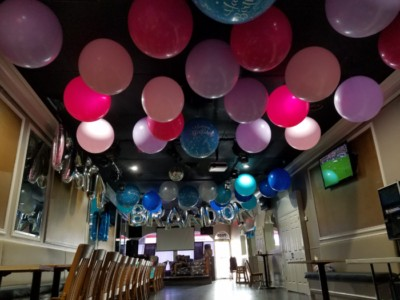 large latex balloons ceiling decoration