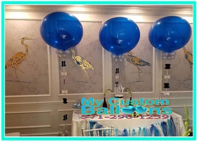 36in blue latex balloons2