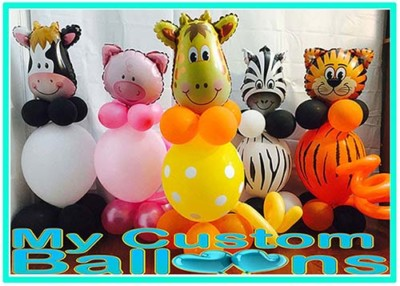 Animal Balloon Centerpieces