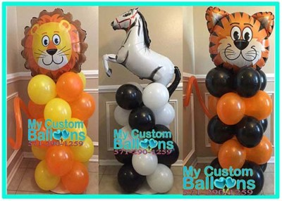 Animal Balloon Columns