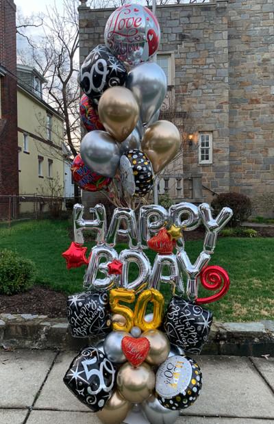 Milestone Bday balloon gift